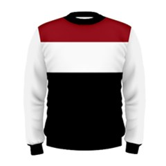 Red, White and Black Men s Sweatshirt