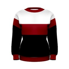 Red, White and Black Women s Sweatshirt