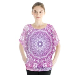 Pink Watercolour Mandala Blouse