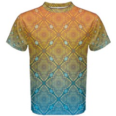 Ombre Fire and Water Pattern Men s Cotton Tee