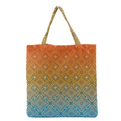 Ombre Fire And Water Pattern Grocery Tote Bag