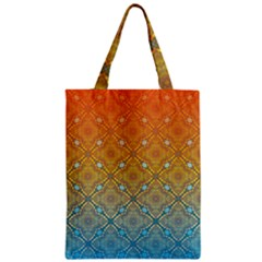 Ombre Fire and Water Pattern Zipper Classic Tote Bag