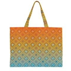 Ombre Fire and Water Pattern Large Tote Bag