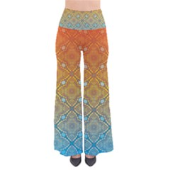 Ombre Fire and Water Pattern Pants