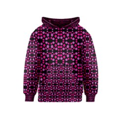 Dots Pattern Pink Kids  Pullover Hoodie