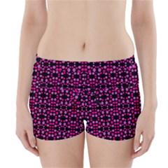 Dots Pattern Pink Boyleg Bikini Wrap Bottoms