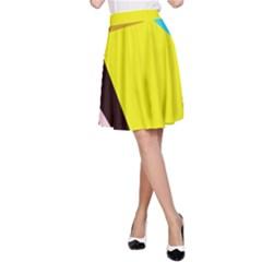 Angry bird A-Line Skirt