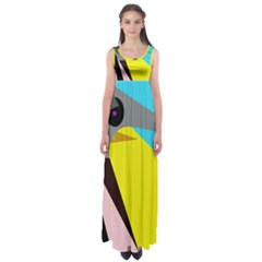 Angry Bird Empire Waist Maxi Dress