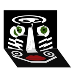 African mask Clover 3D Greeting Card (7x5)