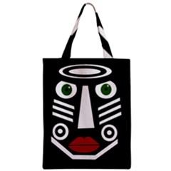 African mask Zipper Classic Tote Bag