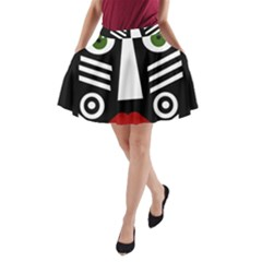 African mask A-Line Pocket Skirt