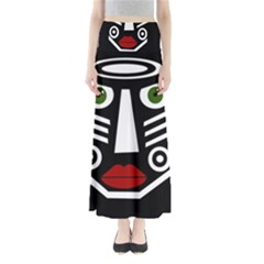 African mask Maxi Skirts