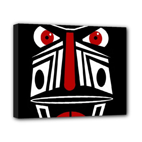 African red mask Canvas 10  x 8