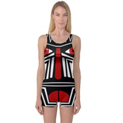 African red mask One Piece Boyleg Swimsuit
