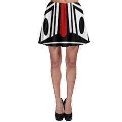 African red mask Skater Skirt