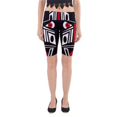 African red mask Yoga Cropped Leggings