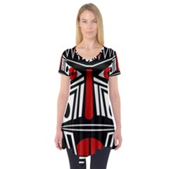 African red mask Short Sleeve Tunic