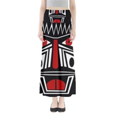 African red mask Maxi Skirts