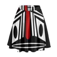 African red mask High Waist Skirt