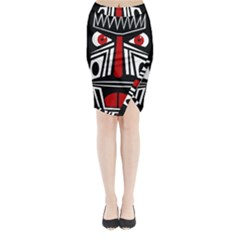 African red mask Midi Wrap Pencil Skirt