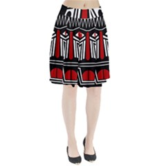 African red mask Pleated Skirt