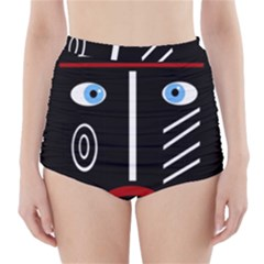 Decorative mask High-Waisted Bikini Bottoms