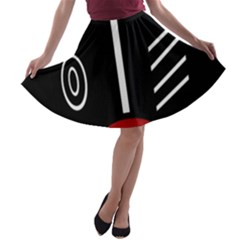 Decorative Mask A Line Skater Skirt