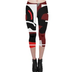 Crazy abstraction Capri Leggings