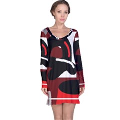 Crazy abstraction Long Sleeve Nightdress