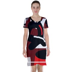 Crazy abstraction Short Sleeve Nightdress