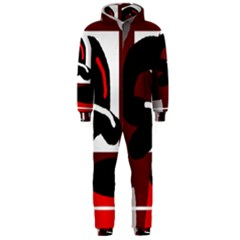 Crazy abstraction Hooded Jumpsuit (Men)
