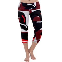 Crazy abstraction Capri Yoga Leggings