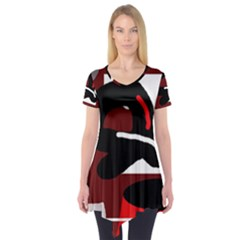 Crazy abstraction Short Sleeve Tunic