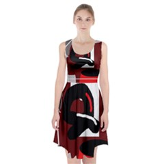 Crazy abstraction Racerback Midi Dress