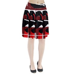 Crazy Abstraction Pleated Skirt