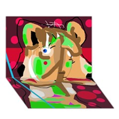 Abstract animal Apple 3D Greeting Card (7x5)