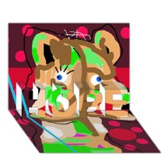 Abstract animal HOPE 3D Greeting Card (7x5)