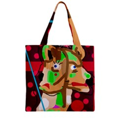 Abstract animal Zipper Grocery Tote Bag