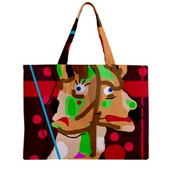 Abstract animal Zipper Mini Tote Bag