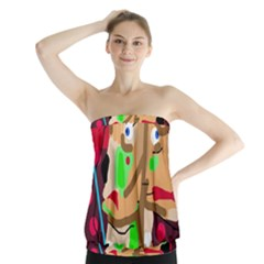 Abstract animal Strapless Top