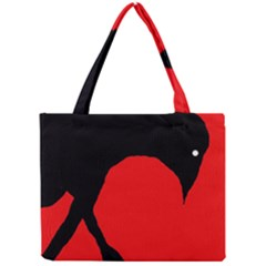 Black raven Mini Tote Bag