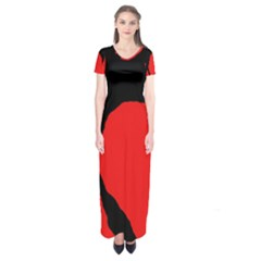 Black Raven Short Sleeve Maxi Dress