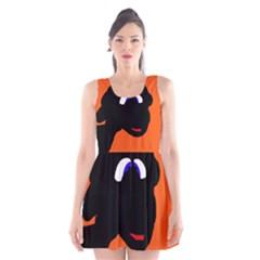 Black Sheep Scoop Neck Skater Dress
