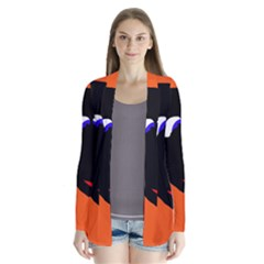 Black sheep Drape Collar Cardigan