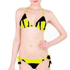 Black dog Bikini Set