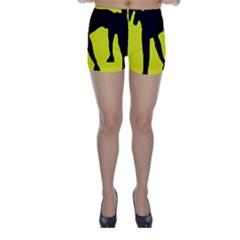 Black dog Skinny Shorts