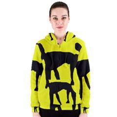 Black dog Women s Zipper Hoodie