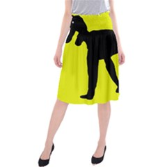 Black dog Midi Beach Skirt
