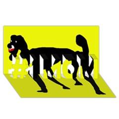 Black dog #1 MOM 3D Greeting Cards (8x4)