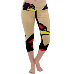 Angry Bird Capri Yoga Leggings